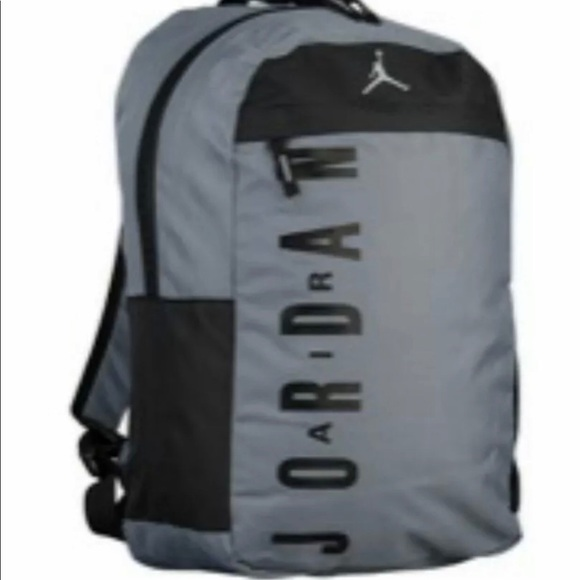 7755a3391532 NWT Black Gray Nike Air Jordan backpack bag